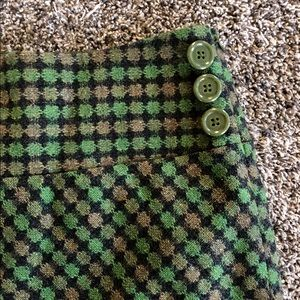 Ann Taylor Loft Green Check Wool 4